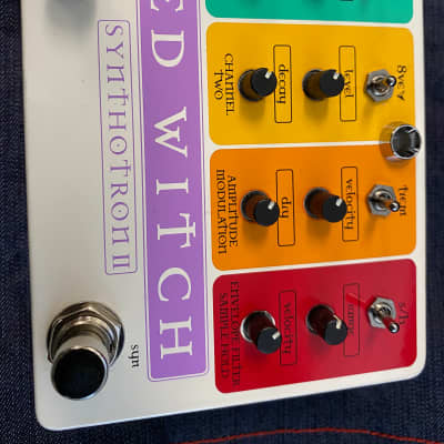 Rare signed and numbered! Red Witch Synthotron II 2 Analog Synth Filter Pedal #13