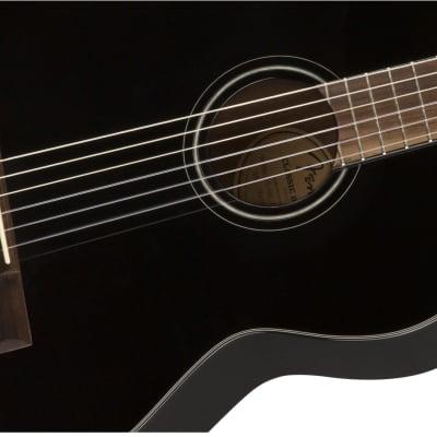 Fender CN-60S Nylon, Walnut Fingerboard, Black