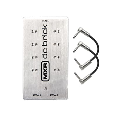 MXR M237 DC Brick Power Supply (8) 9v (2) 18v Outputs with Patch Cables