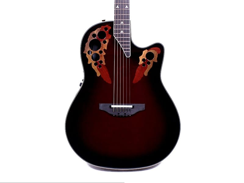 Ovation 2078AX BCB Elite Deep Contour Cherry burst Acoustic-Electric Guitar w/ Case image