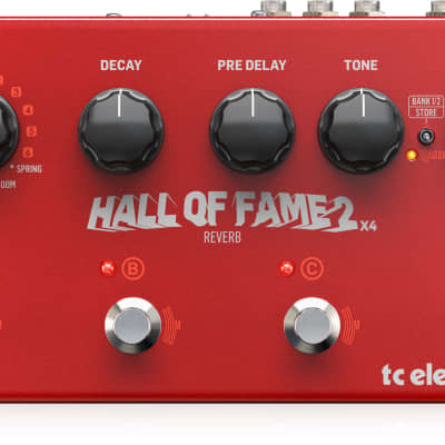 TC Electronic Hall of Fame 2 x 4 Reverb Effects Pedal