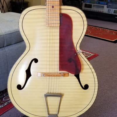 Kay Scroll Headstock Acoustic Flamed Blonde for sale