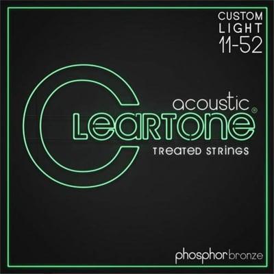 Cleartone 7411 EMP Coated Phosphor Bronze Acoustic Guitar Strings 11-52 Custom Light