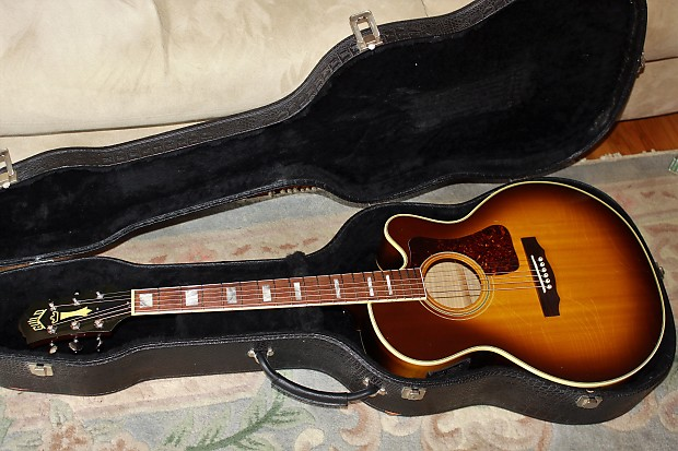 Sweet 16yr Old Guild F47mce W  Hsc All Solid Woods Aaaa Flame