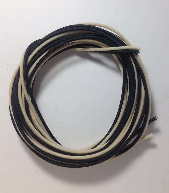 Gavitt Cloth Covered Wire Pre-tinned Pushback 22awg 20 Feet 10 Wht on