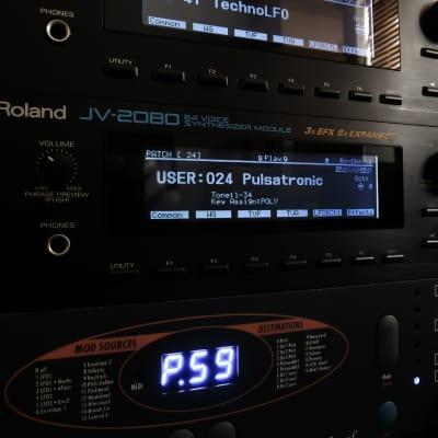 Roland JV-2080 (NEW) Custom Negative Black LED Display !