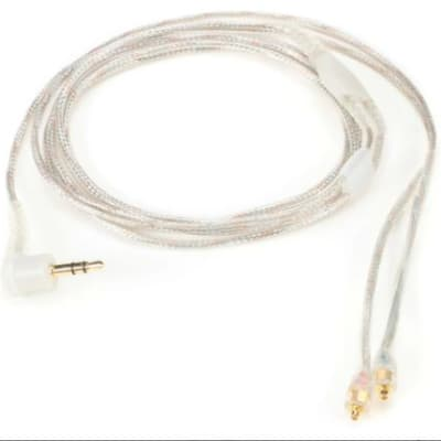 "Shure EAC64CL 64"" Clear Detachable Cable for SE Earphones"