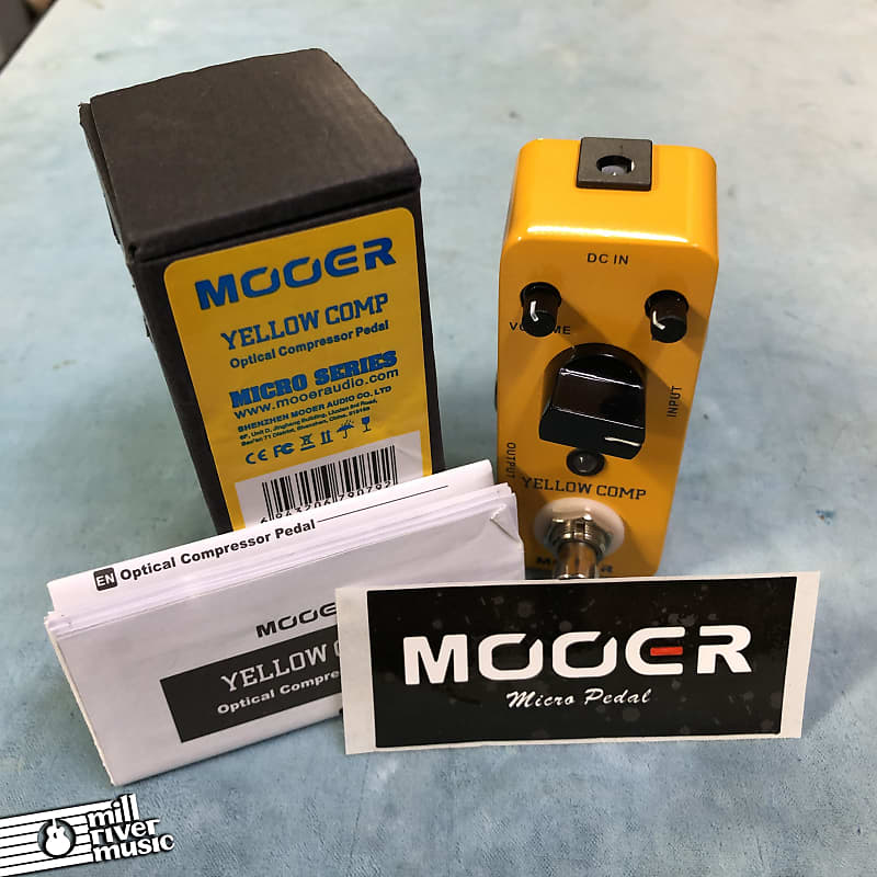 Mooer Yellow Comp Optical Compressor Micro Effects Pedal w/ Box