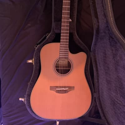 Takamine CP3DC-OV Pro Series Cutaway Solid Cedar TOp/Ovangkol Backing Acoustic/Electric Guitar Natural Satin finish for sale