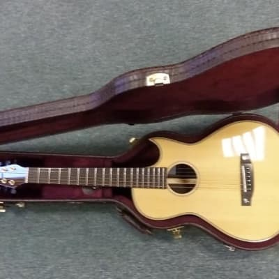 NEW  Terry Pack PLRS parlour guitar,handmade, rosewood B/S, best small guitar, big sound,  save £300 for sale