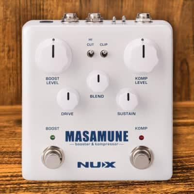 Nux Verdugo Series Masamune Booster And Kompressor Guitar Effects Pedal