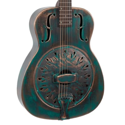 Recording King Swamp Dog Metal Body Resonator - Distressed Vintage Green for sale