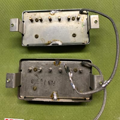 Gibson Stamped Patent Number Humbucker Set 1968