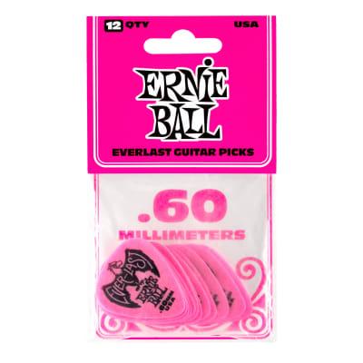 Ernie Ball .60mm Everlast Picks, 12-Pack, Pink for sale
