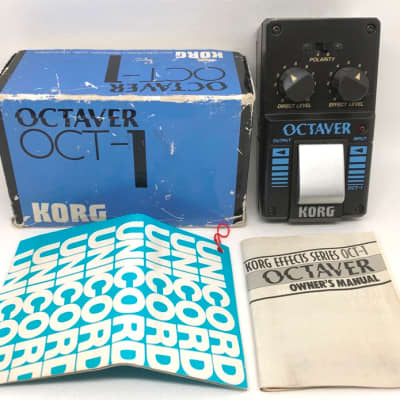 KORG OCT-1 OCTAVER Pedal in Box + Manuals 1980's Analog, monophonic, octave down! Like Yamaha OC-01 for sale