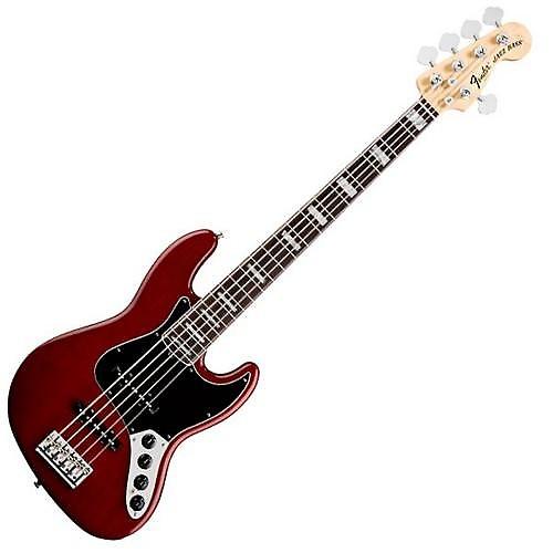 fender american deluxe jazz bass v 5 string electric bass reverb. Black Bedroom Furniture Sets. Home Design Ideas