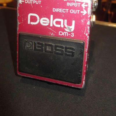 Vintage Circa 1989 Boss DM-3 Analog Delay Pedal