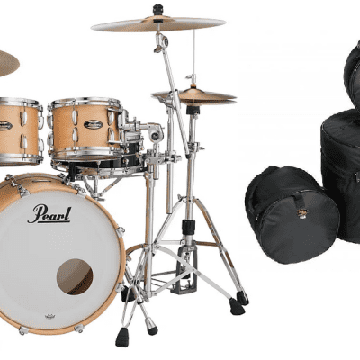 Pearl Masters Maple Gum Hand-Rubbed Natural Maple 20x14_10x7_12x8_14x14 +Free Bags Authorized Dealer