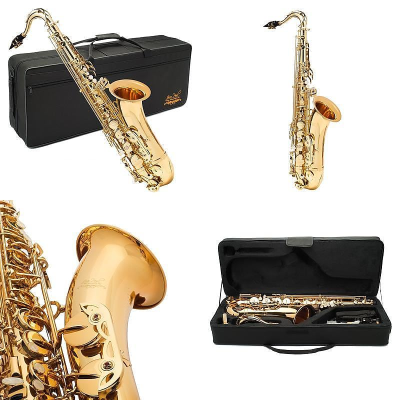 Jean Paul USA TS-400 Tenor Saxophone Key of Bb with Carrying Case, Rico Reed, Swabs, Gloves & Greece