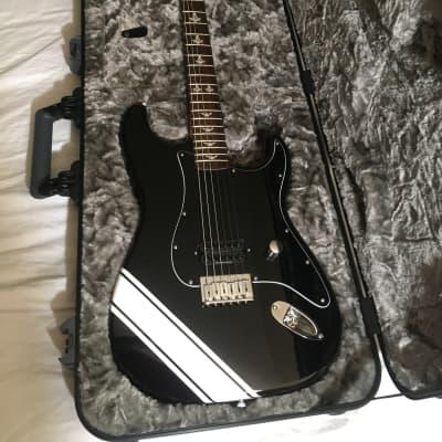 """""""Boxcar Racer"""" 2002 Black Tom Delonge Fender Stratocaster w/ Fender Elite Case for sale"""