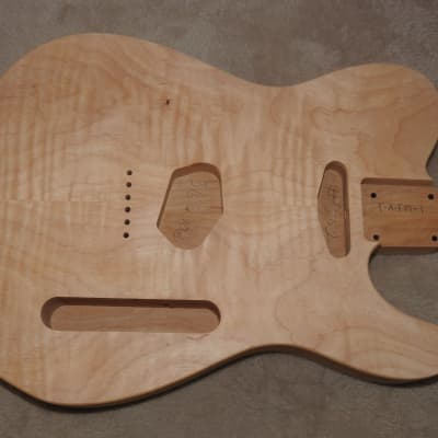 Unfinished Telecaster 2 Piece Alder Body Bookmatched Flame Maple Top Std Tele Pup Route 3lbs 10oz #1