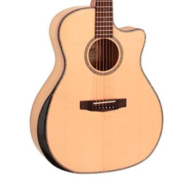 Grand Regal Series Acoustic guitar with preamp and pickup Cutaway  Cort GA-MY-Bevel-NAT