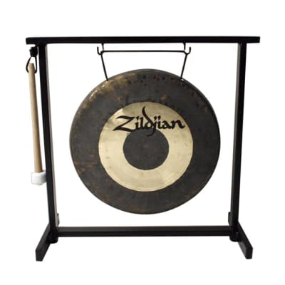 """Zildjian 12"""" Orchestral Hand Hammered Gong Set with Stand and Mallet"""