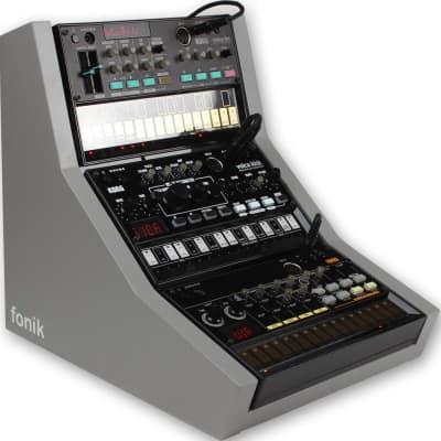 Fonik Audio Innovations stand for 3x Korg Volca, grey