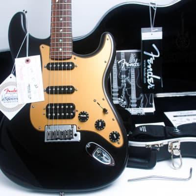 """FENDER USA Deluxe LTD  Stratocaster S1 """"Montego Black + Maple"""" (2008)."""