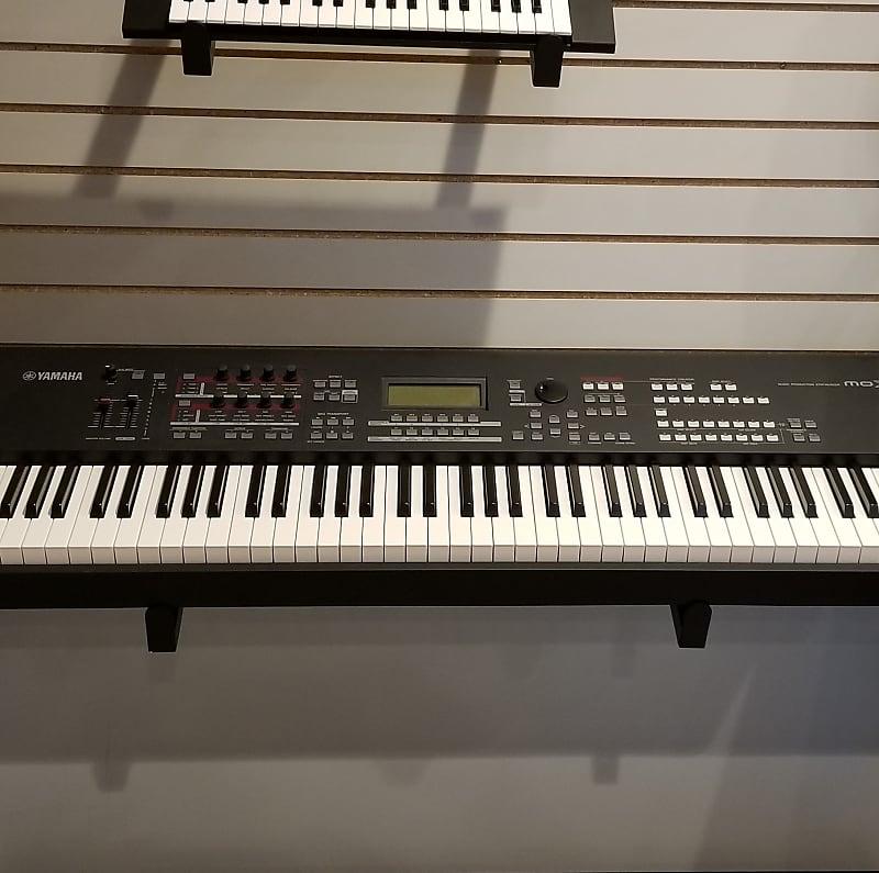 yamaha moxf8 88 key synthesizer workstation black reverb. Black Bedroom Furniture Sets. Home Design Ideas