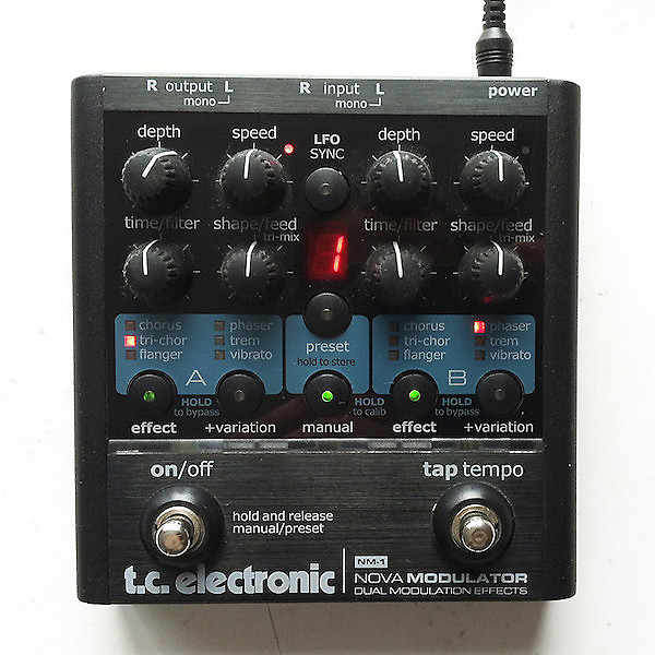 Tc electronic nova modulator pedal youtube.