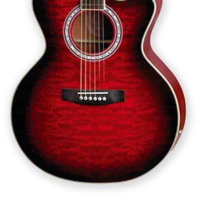 Jay Turser JTA-424QCET-RSB Mahogany Neck 6-String Acoustic-Electric Guitar w/Piezo Pikup