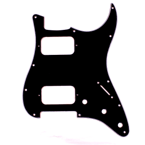 Custom Guitar Pickguard For Strat HH Layout opened pickups ,3ply Black