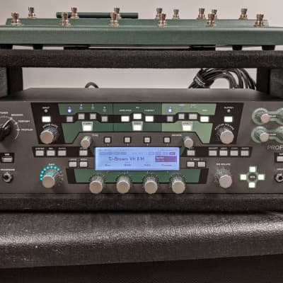 Kemper Profiler Powered Rack (loaded) with 4U rack and controller pedal for sale