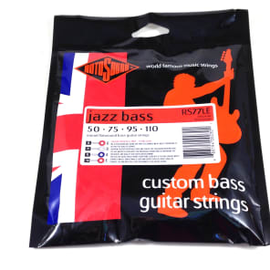 Rotosound RS77LE Monel Flatwound Jazz Bass Strings (50-11)