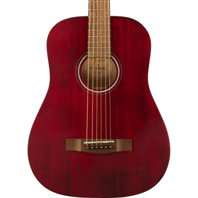 Fender FA-15 3/4 Scale Steel String Acoustic Guitar, Walnut Fingerboard, Red w/ Gig Bag