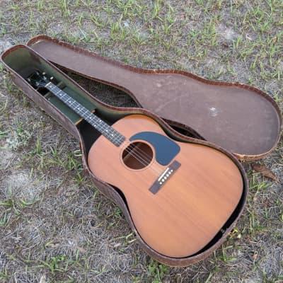 Vintage 1962 Gibson TG-0 Tenor Acoustic Guitar Original Gator Case No Repairs Original Sales Receipt