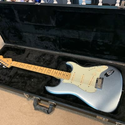 Fender American Deluxe Stratocaster Plus 2013 - 2016 Mystic Ice Blue Made in USA - MINT for sale