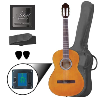 Artist CL44AM Full Size Classical Nylon String Guitar Pack - Amber for sale