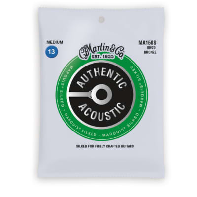 Martin MA150S Authentic Acoustic Marquis Silked 80/20 Bronze Medium Guitar Strings. 13-56