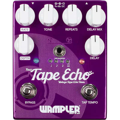 Wampler Faux Tape Echo Delay Pedal Regular