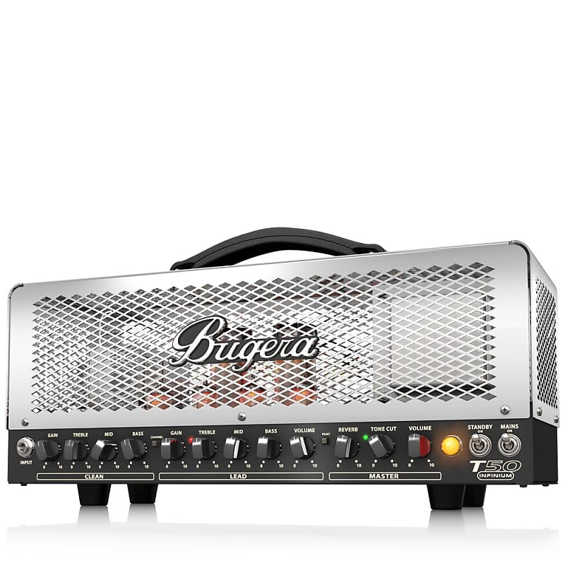 bugera t50 infinium 50w cage 2 channel tube amp head reverb. Black Bedroom Furniture Sets. Home Design Ideas