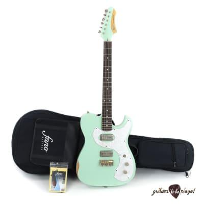 Fano TC6 Standard Electric Guitar w/ Gigbag - Surf Green (Medium Distress)