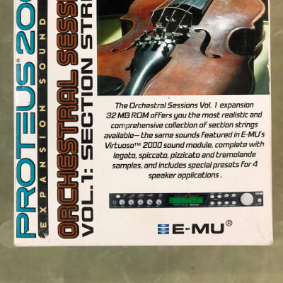 E-MU Systems *NOS* Proteus 2000 Expansion Card Orchestral Sessions Vol. 1: Section Strings