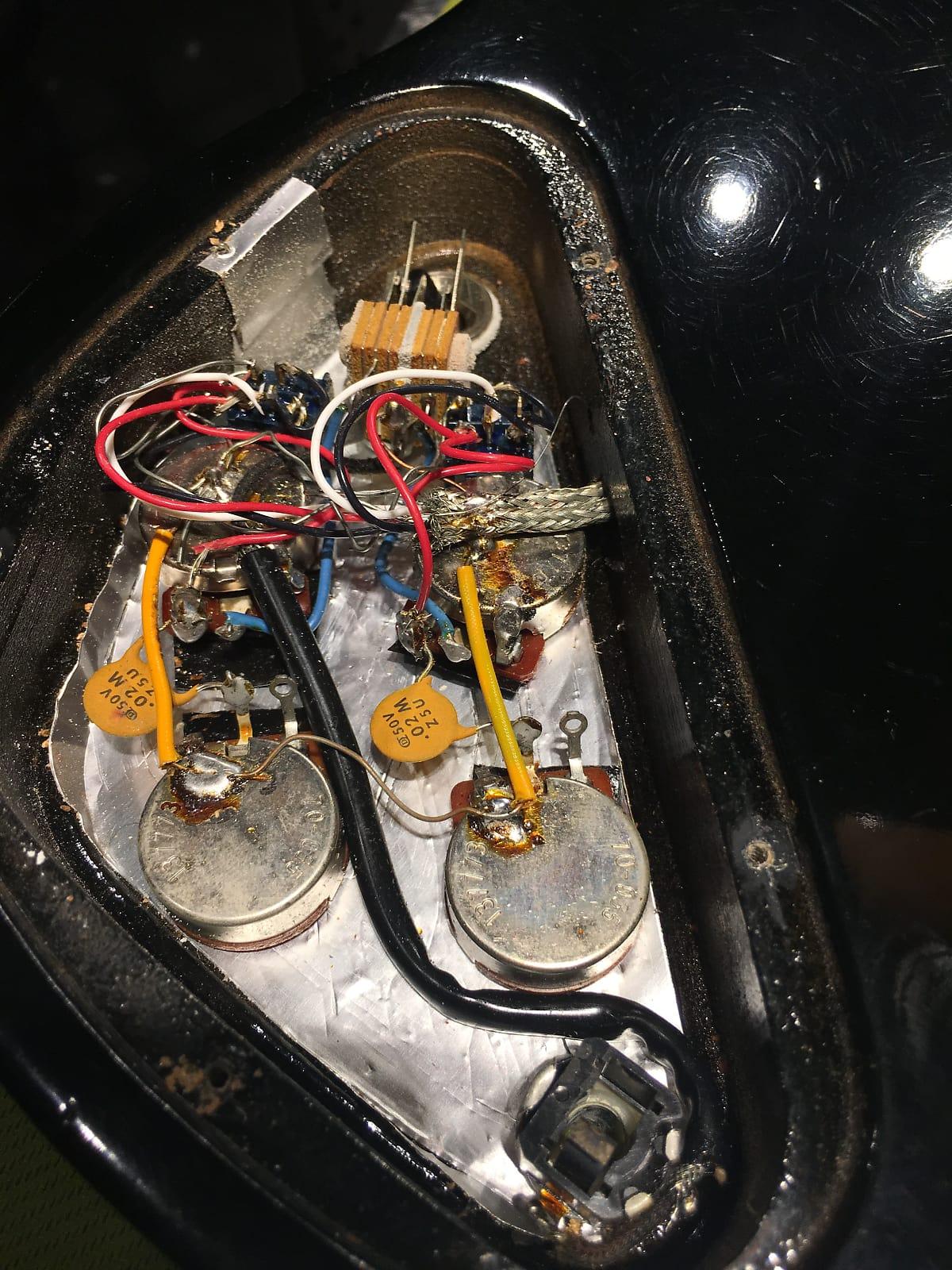 Gibson Sg Special Black 1977 S157 Dimarzio Super Distortion Hot Wire Wiring 1495