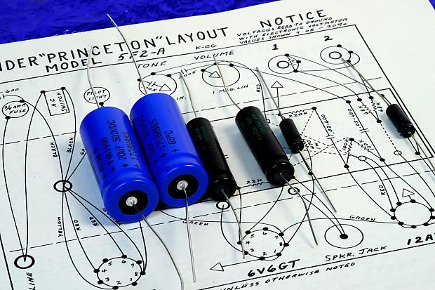 Premium Sprague Electrolytic Capacitor Kit For DIY Fender