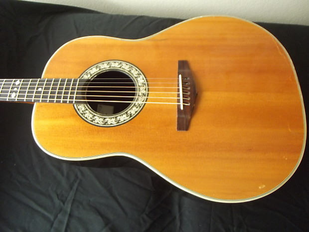 ovation deluxe balladeer 1968 natural shiny bowl reduced reverb. Black Bedroom Furniture Sets. Home Design Ideas