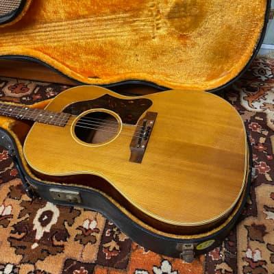 Vintage 1963 Gibson TG25 TG25N Natural Tenor Acoustic Guitar USA w/ Hard Case