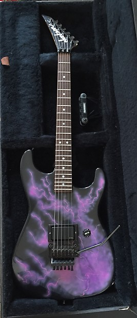 Jackson Custom Shop Strat Body 1987 Black Metallic Purple Pink Lightning