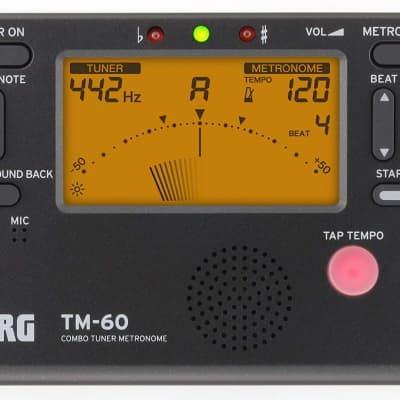 Korg TM-60 Tuner Metronome - Black